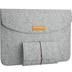 """Zwei schöne original XeloTech Filz-Taschen im Set:  - 1x Filztasche mit Innenfutter passend für iPad 2018 mit 9.7"""", iPad Pro 11"""", iPad 2017 mit 9.7"""", iPad Pro 10.5"""", iPad Pro 9.7"""", iPad Air 2, iPad Air  - 1 x Filztasche für den Zubehör (Ladekabel, St..."""