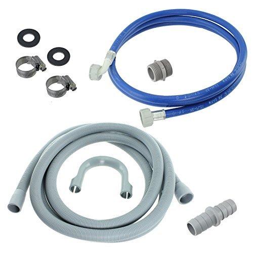 First4spares - Universal Wasserrohr Und Abflussschlauch Verlängerungs Set Für Whirlpool Waschmaschinen (2,5m) (Whirlpool Waschmaschine Ablaufschlauch)