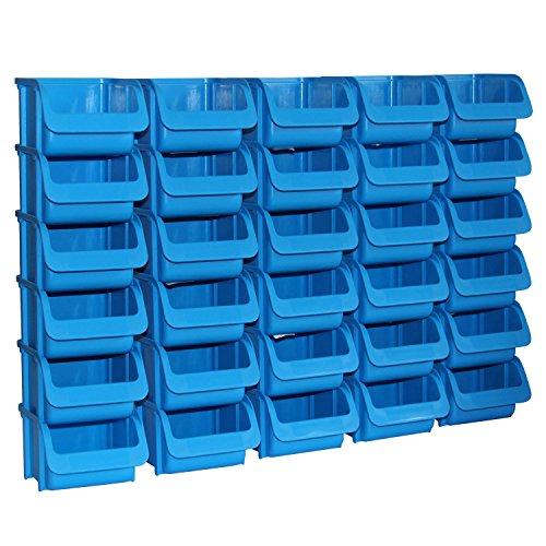 30x Sichtbox PP Größe 1 blau PRO NEU 30er Set Sichtboxen Werkstatt-Lagerboxen