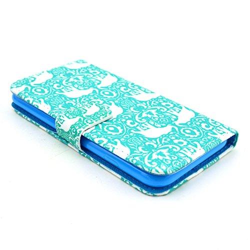 """MOONCASE iPhone 6 Plus Case Motif Conception Coque en Cuir Portefeuille Housse de Protection Étui à rabat Case pour iPhone 6 Plus (5.5"""") P61"""