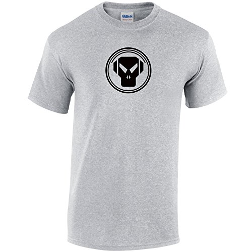 Inspiriert METALHEADZ Records T-Shirt Grau - Grau - Sport Grey