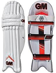 Gunn & Moore 505–niños–protectores de piernas de críquet guardias blanco/rojo, blanco