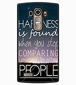 ColourCraft Quote Design Back Case Cover for LG G4