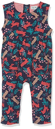 Lilly and Sid Baby-Mädchen Bekleidungsset Bunny Print Cord Dungarees, Mehrfarbig (Multicoloured 005), 6-12 Monate