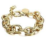 Damen Armband Funkeln Kubisches Zirkonia Armkette Verstellbar (Gold)