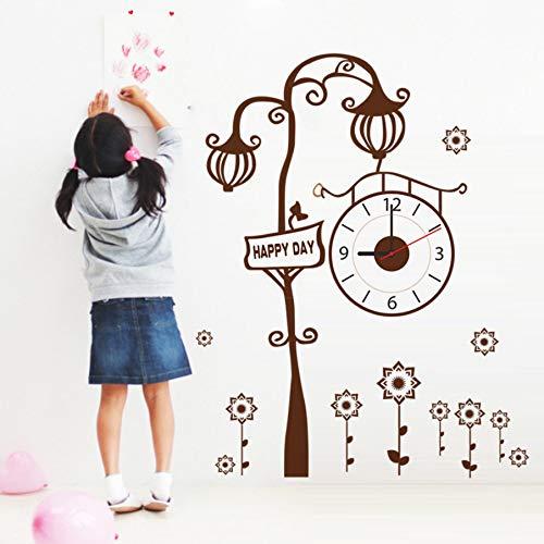 (Zyzdsd Top Fashion New Free Verschiffen Moderne Uhr Wandaufkleber Braun Kreative Baum Wohnzimmer Wanduhr Aufkleber)