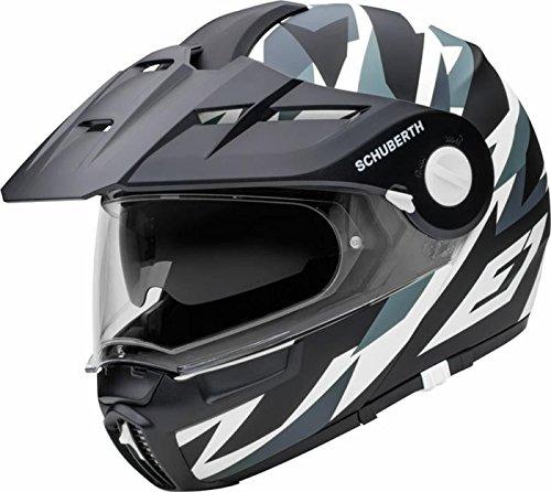 SCHUBERTH E1 Rival Grigio Adventure Modulare Casco per Moto Taglia XL