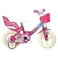 Dino Bikes 124RL-PSS Disney Princess Kids Bicycle, Pink