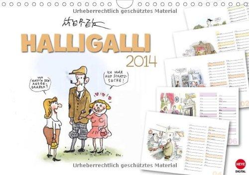 HALLIGALLI - der fröhliche Planungskalender (Wandkalender 2014 DIN A4 quer): Ausgelassene Cartoons...