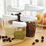 dealglad® 5pièces cuisine hermétique alimentaire Fruit Sec Boîte à céréales réservoirs Boîtes de rangement