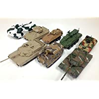 LOT de 8 CHARS MILITAIRES AMERICAINS 1:72 WW2 US ARMY TANK