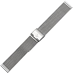 Uhrenarmband 18mm Edelstahl - Mesh / Milanaise - Metall silber - Metallarmband aus Edelstahl für Uhren - Uhrenarmbänder von Marburger seit 1945