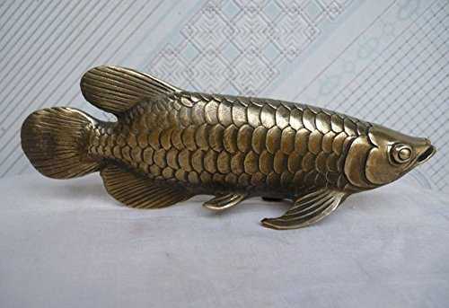 Liangliang988 Chinese Folk Kultur Handmade Messing Bronze Statue Fisch Skulptur