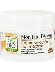 SO'BiO étic Soins Visage et Corps Mon Lait D'ânesse Crème Veloutée Nourrissante Corps 200 ml