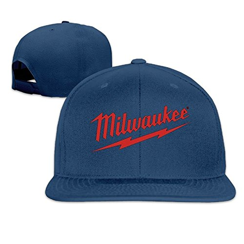 Funny Caps Power Tool Logo Milwaukee Father's Day Gift Unisex Unisex Adjustable Hipster Curved Visor Baseball Cap Polo Style Design Navy