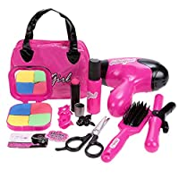 Smibie Kids Girls Pretend Play Beauty Makeup Set Kit Toys for Girls Gift Play with Makeup Bag