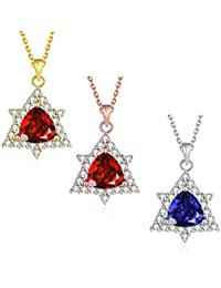 Necklaces Women Classic Geometry Gold Plated Rose Gold Plated Platinum Plated Copper Zircon 45+5Cm Chain Pendant...