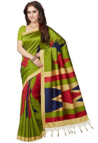 Ishin Women's Silk Saree With Blouse Piece (Ishinrtwz-Pb-28043_Green)