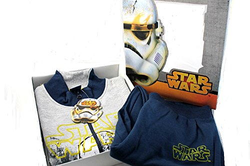 Star Wars Tuta felpata grigio melange Maniche Lunghe Taglie 8-10-12 anni (12anni)