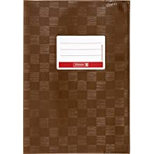 Brunnen Booklet Cover for A4 with Name tag and Structure Embossing/Bast Structure, 1 Envelope a5 Brown