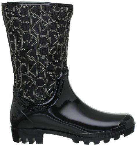 Calvin Klein Wynona, Bottes de pluie femme Black/Pearl Grey