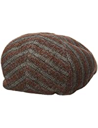 9cc28fb771d ROOSTER Distressed Leather Ivy Cap Newsboy Gatsby Driving Hat Rust Brown