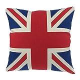 """Luxbon Funda de Cojín Almohada Bandera de UK Inglaterra Decoración para Sofá Cama Coche 18x18"""" 45x45 cm"""