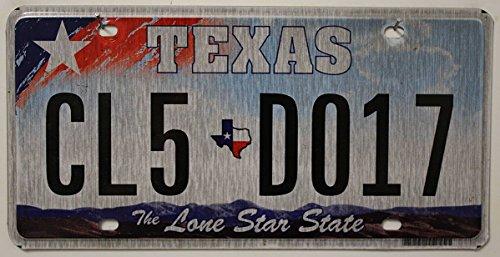 Preisvergleich Produktbild USA Nummernschild TEXAS ~ US Kennzeichen LONE STAR STATE ~ Blechschild