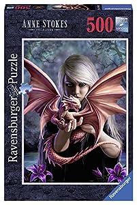 Ravensburger - Puzzles 500 Piezas, diseño Chica con dragón (14643 7)