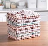 MAS International Ltd Strofinacci di spugna 100% cotone, morbidi al tatto, in confezione da 2, 4, 6, 8, 10, 12, 100% cotone, Confezione da 8