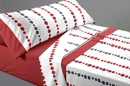 Lovetextil Juego sábanas Estampado Cama 150 cm. Incluye