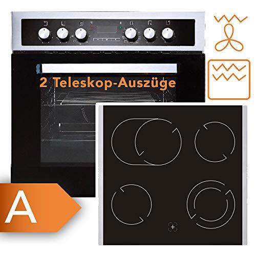 Herdset Frankenberg Elite 8000 IX Kombination aus Herd und Kochfeld mit einem fantastischen Preis-/Leistungsverhältnis | Grillfunktion | Umluft | Auftauen uvm.