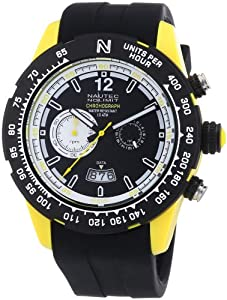 Reloj Nautec No Limit Zero-Yon 2 ZY2 QZ/RBPCBKBK-YL de cuarzo para hombre, correa de goma color negro (cronómetro) de Nautec No Limit