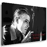 Julia-art Leinwandbilder - David Bowie Bild 1 teilig - 100 mal 70 cm Leinwand auf Rahmen - sofort aufhängbar ! Wandbild XXL - Kunstdrucke QN.59-5