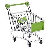 Pixnor Mini Shopping Cart deposito a forma di cestino Desktop Organizer