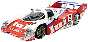 Minichamps-962C 1000Km Nurburgring 1987Porsche, 155876502, Rojo/Blanco, en Miniatura (Escala 1/18