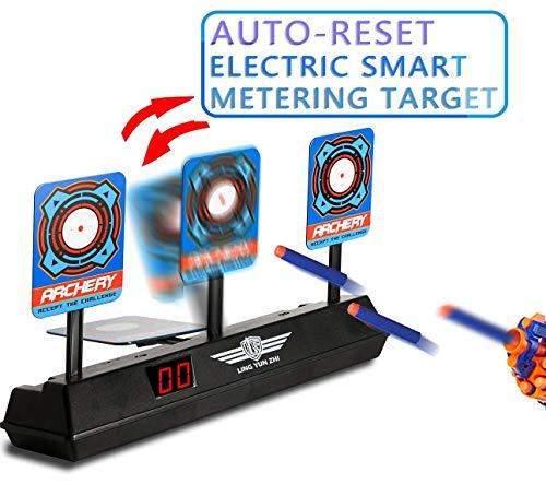 YIY Elektronisches Ziel-Übungsziel für Kinder, tragbares Übungsziel, Schießanzeiger für Nerf Darts Automatisches Zurücksetzen intelligenter Licht-Sound-Effekt-Zielscheibe für Mega- und Rival-Serie