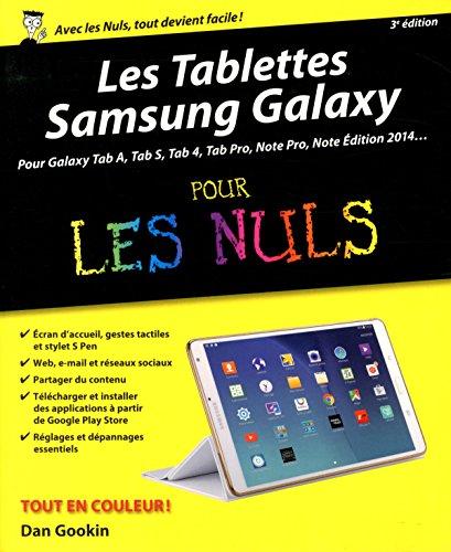 Les tablettes Samsung Galaxy pour les nuls par Dan Gookin