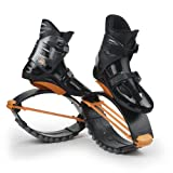 KangooJumps Rebound Shoes XR 3 - Máquina de Step para Fitness, Color Nergo/Naranja, Talla M