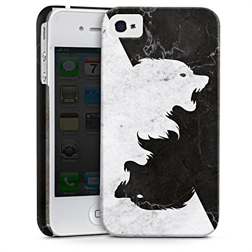 Apple iPhone 6s Hülle Silikon Case Schutz Cover Game of Thrones Wolf GOT Premium Case glänzend
