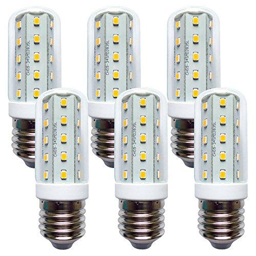 LED Leuchtmittel T30 Röhre 4W Corn 3000K warmweiß 360° (E27, 6 Stück)