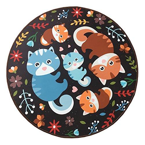CarPET SESO UK- Retro kreative Kinder Sofa Teppich, Rutschfeste runde Teppich für Schlafzimmer Wohnzimmer (größe : 160cm)
