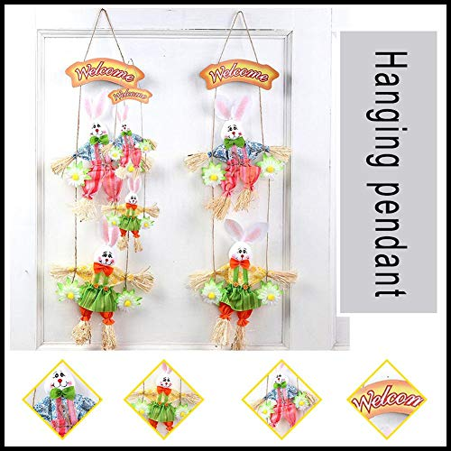 Decorazione pasqua decorazioni pasquali da appendere fatta a mano di legno per la decorazione della parete di festival domestico
