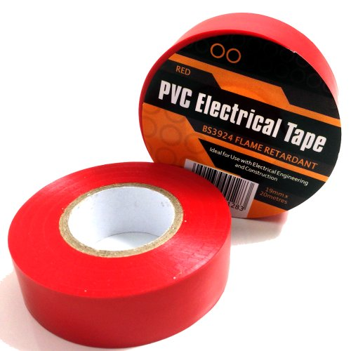 1-x-red-electrical-pvc-insulation-insulating-tape-19mm-x-20m-flame-retardant