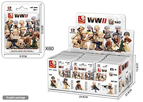 Sluban Bloques de Construccion WWII Minifigures