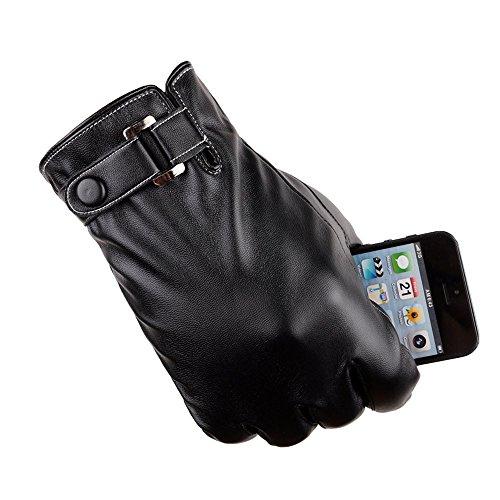 Junge warme Reithandschuhe, Malloom Männer Thermal Winter Sport PU Leder Handschuhe
