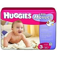 Huggies Supreme Little Movers Diapers, Huggies Supreme Jumbo Step 3, (1 PACK,