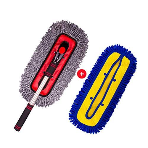RUIX Autowaschbürste Langer Griff Versenkbar/Drehbar / Autowaschbürste/Wischmopp / Staubwischer