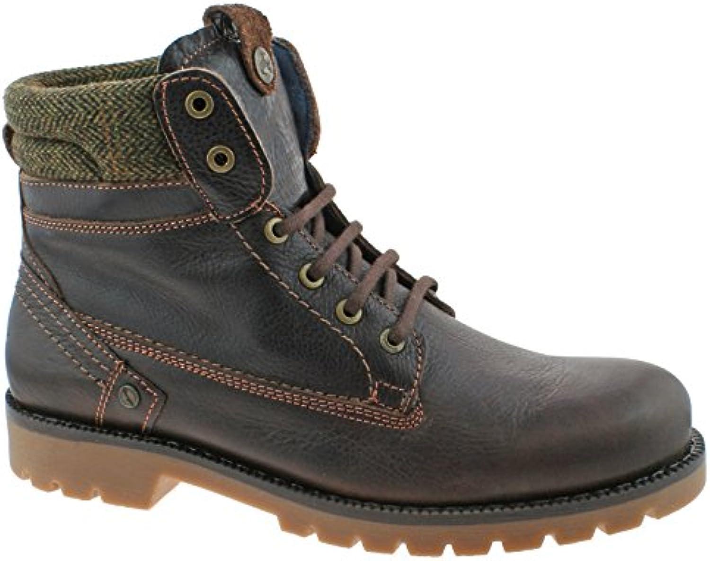 Wrangler Mens Creek Tweed Leather Boots Dark Brown WM172900K UK8 (EU42)