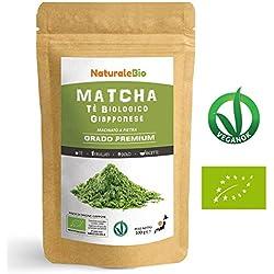 Matcha Tee Pulver Bio [ Premium-Qualität ] 100g | Original Green Tea aus Japan | Japanischer Matcha Ideal zum Trinken | Grüntee-Pulver für Matcha Latte, Matcha Smoothies, Matcha-Getränk | Tee hergestellt in Japan Uji, Kyoto | NATURALEBIO®